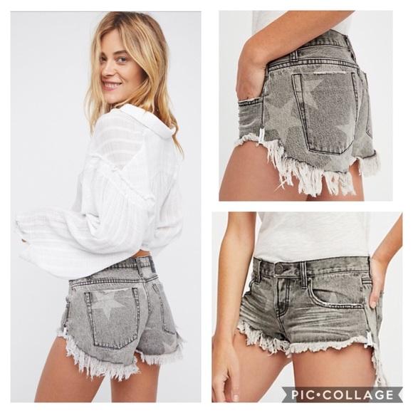 be0f1d58db One Teaspoon Shorts | Nwt One X Camden Bonitas Star | Poshmark